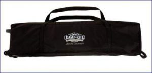 Complete tent cot in its carry bag.