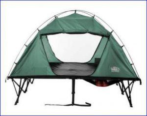 KT Compact Double Tent Cot - side view.