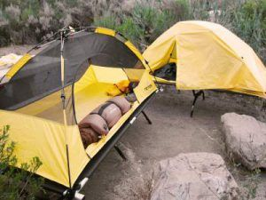 Tents with and without fly. & Teton Sports Outfitter XXL Quick Tent Cot And Pad - Best Tent ...