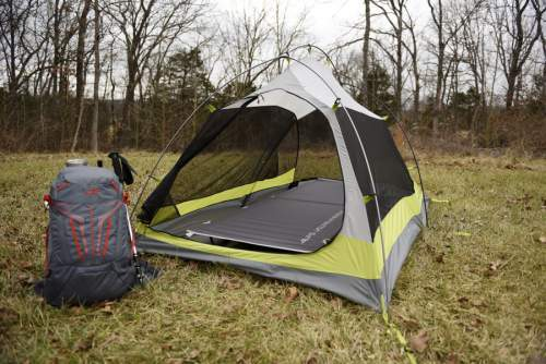 The Ready Lite Cot used in a tent.