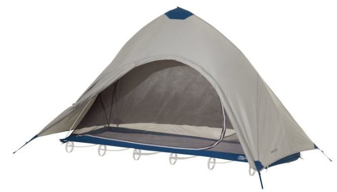 Therm-a-Rest Cot Tent - again the UltraLite Cot can be used as the platform for the tent.