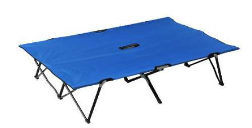 "Outsunny 76"" Two Person Double Wide Folding Camping Cot"