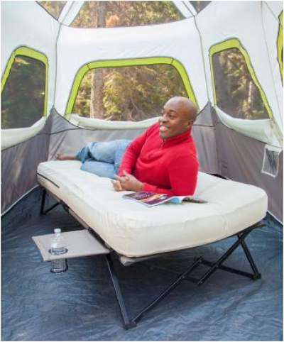 The cot fits in any two-person tent if it is high enough.