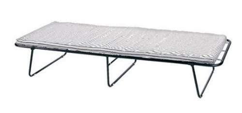 Stansport Conifer Steel Cot with Mattress.