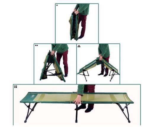 Very easy setup - practically just spread it and set it on its legs.
