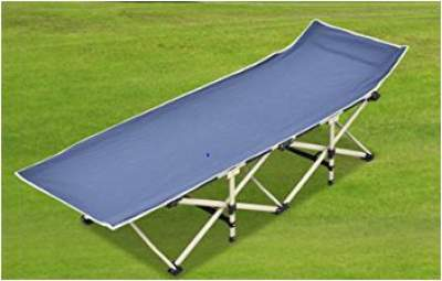 Purenity Camping Cot with elevated headrest.