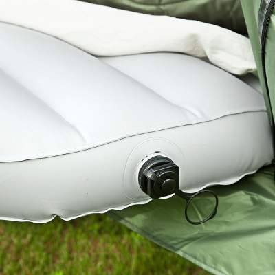 The inflatable sleeping pad is included.