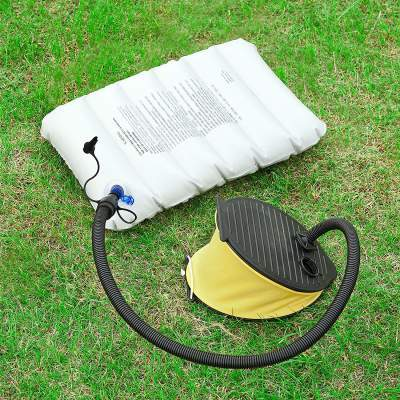 The foot pump is useful for the included air pad and the air pillow.
