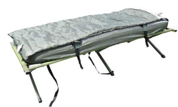 The cot with the included bag and pad. It can be used in such a combination.
