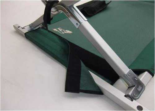 The bed fabric tension can be adjusted due to the Velcro tab.