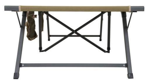 The legs system with support bars which make the bed stable.