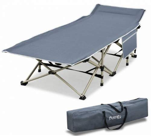 Purenity Stable Camping Cot With Storage Bag.