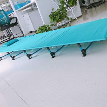The cot can be used in the office.