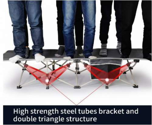 Very strong steel structure and 1200D fabric.