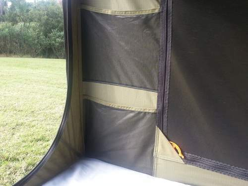 There are 4 storage pockets inside the tent.