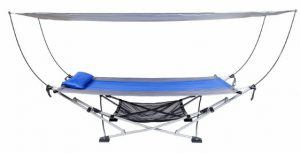 Mac Sports Portable Folding Hammock With Removable Canopy