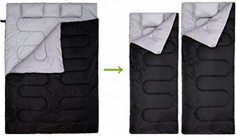 Ohuhu Double Sleeping Bag With 2 Pillows.