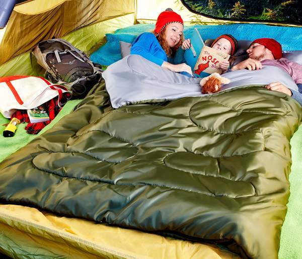 Sleepingo Double Sleeping Bag For Backpacking.