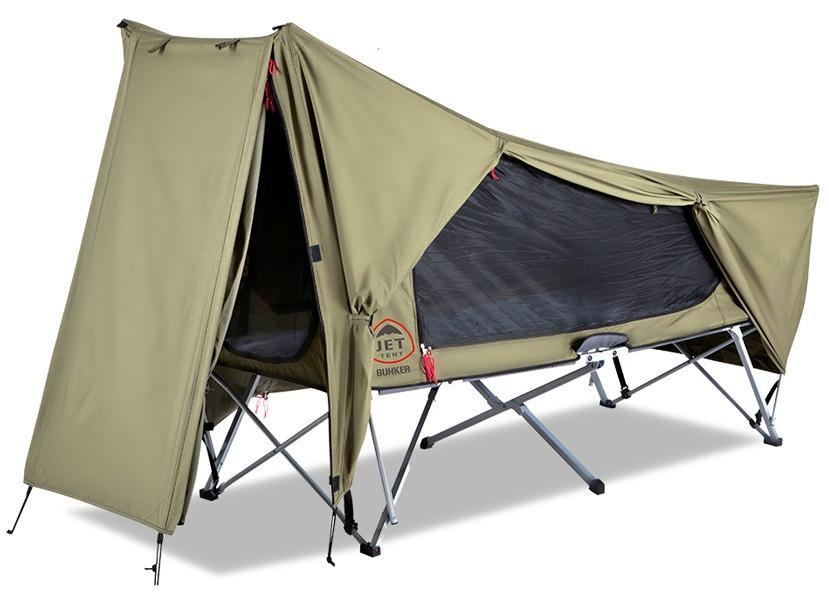 Jet Tent Bunker Cot - here you have all included: tent, cot, and pad.