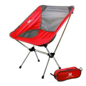 Moon Lence Compact Ultralight Portable Folding Camping Backpacking Chairs with Carry Bag