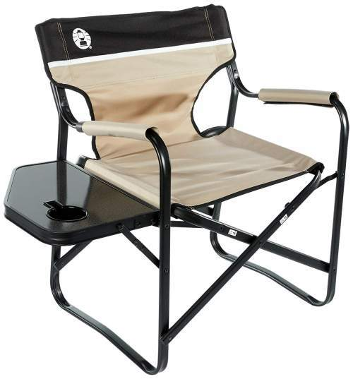 Coleman Portable Deck Chair With Side Table.