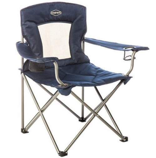 Kamp-Rite Padded Chair with Mesh Back.