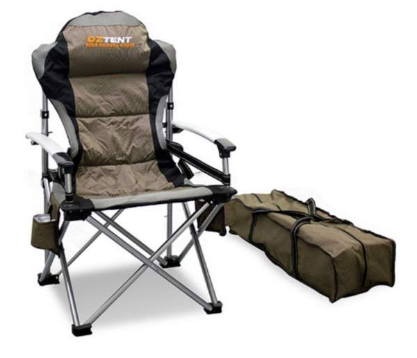 OzTent King Kokoda Camping Outdoor Chair with Lumbar Support.