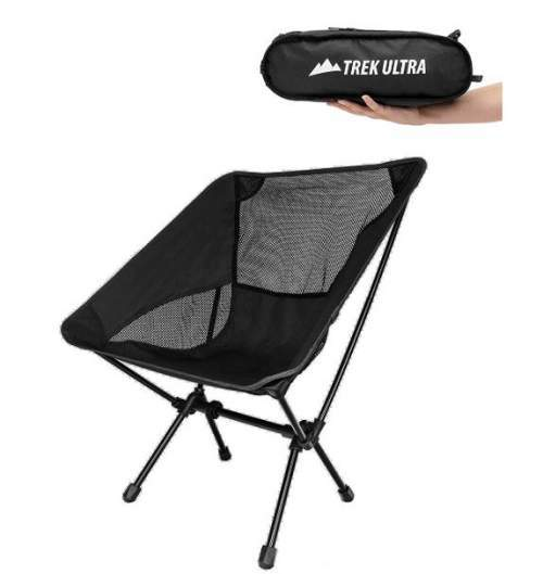TrekUltra Portable Compact Lightweight Camp Chair with Bag.