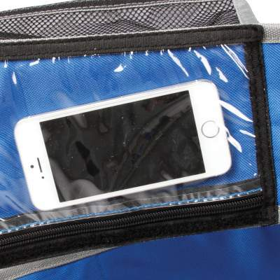 The cell phone sleeve.