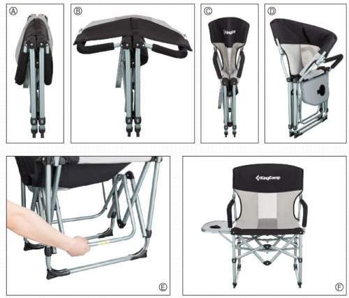 This is how you unfold the chair - double folding design.
