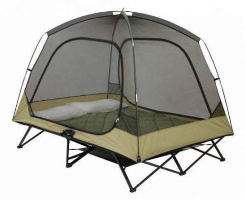 The cot-tent shown without the fly.