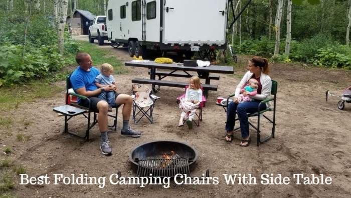 Best Folding Camping Chairs With Side Table