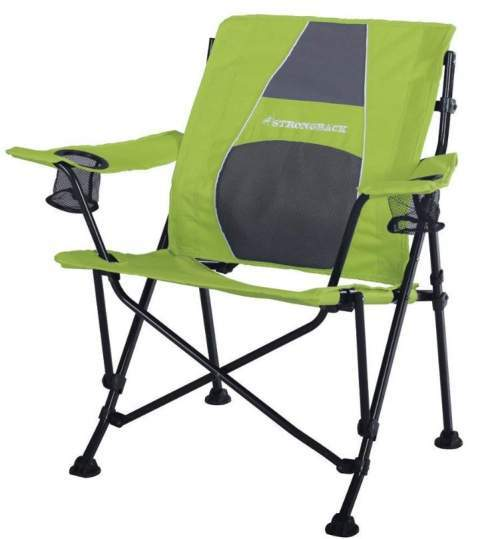 STRONGBACK Guru Folding Camp Chair with Lumbar Support.