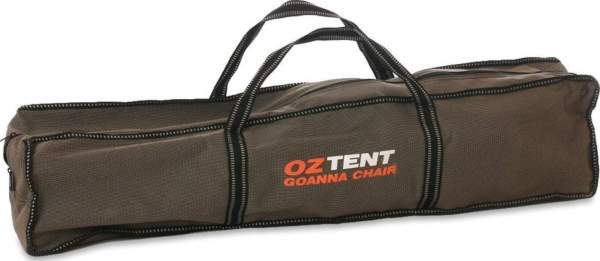 Zippered carry bag is 600D polyester.