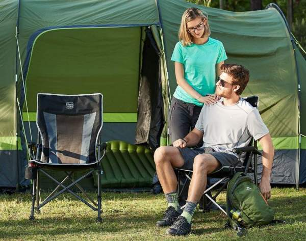 The Timber Ridge Camping Chair in the camp.