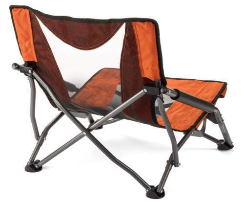 The back view showing the folding frame.