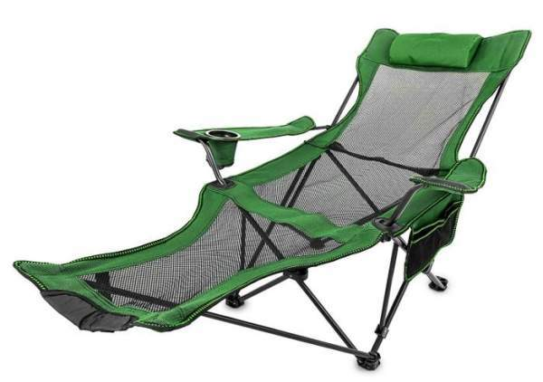 Happybuy Folding Camp Chair with Footrest.