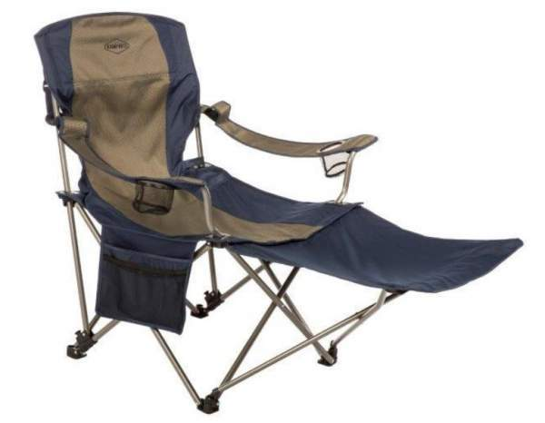 Kamp-Rite Chair with Detachable Footrest.