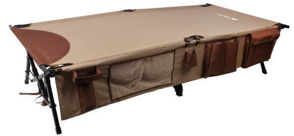 Ozark Trail XXL Weather-Resistant Deluxe Cot with Side Organizer.