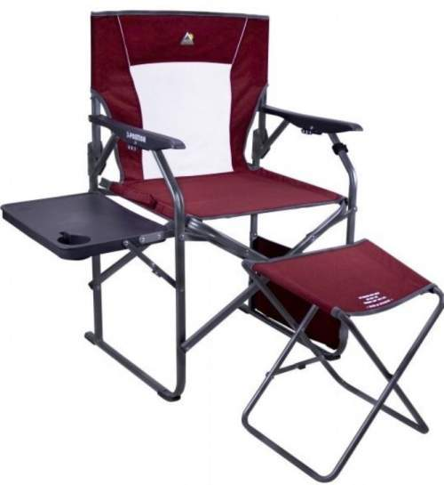 GCI Outdoor 3-Position Reclining Director's Chair with Ottoman.
