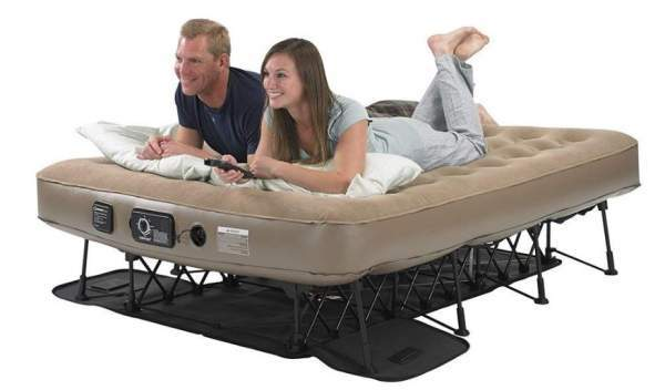 Insta-Bed Ez Queen Raised Air Mattress with NeverFlat pump.