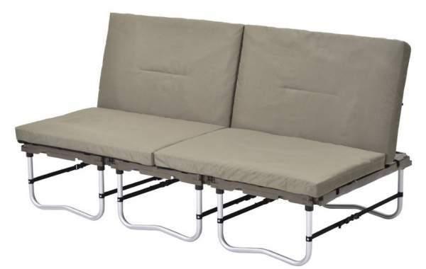 Camping sofa configuration.