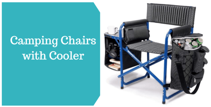 Camping Chairs With Cooler.