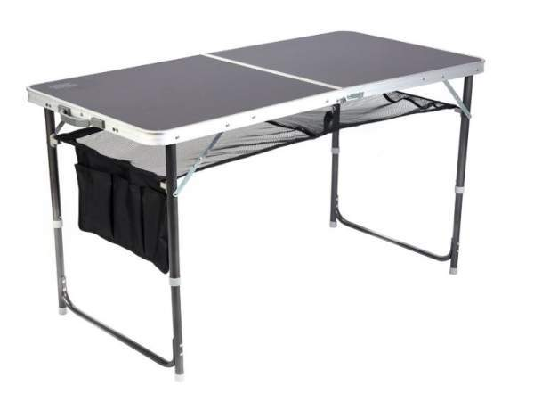 Timber Ridge Adjustable Height Portable Lightweight Folding Utility Outdoor Camping Table.
