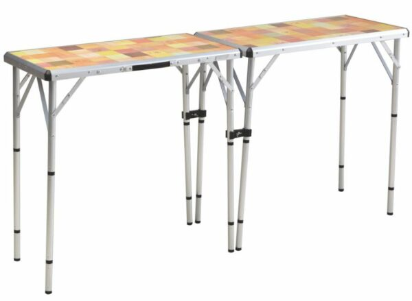 Buffet table configuration.