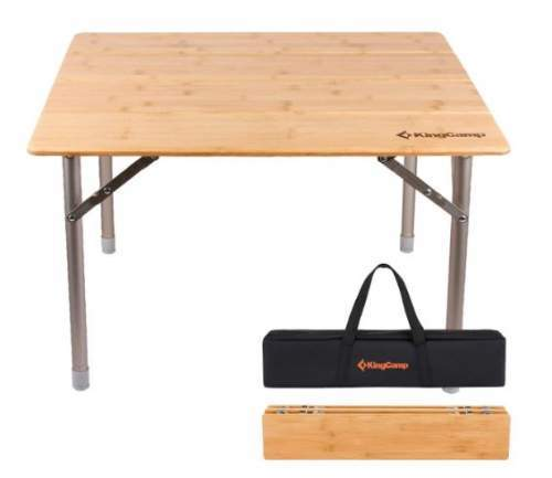 KingCamp Bamboo Folding Table.