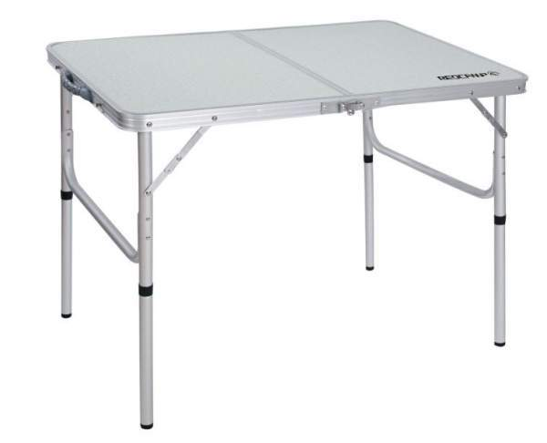 REDCAMP Aluminum Folding Table with adjustable legs.
