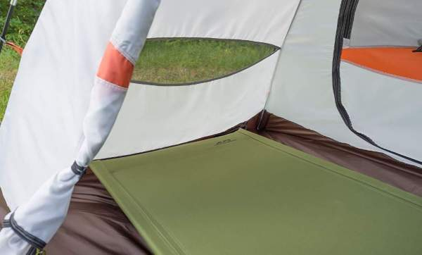 This cot fits easily in any tent.