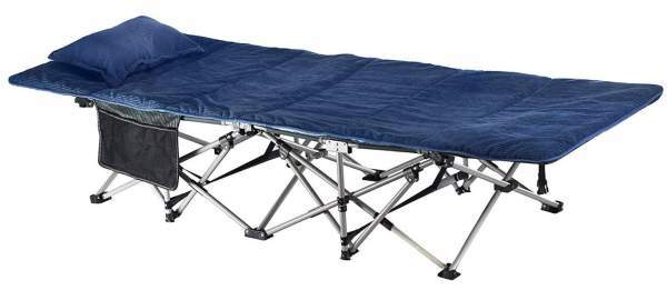 ELTOW Cozy Folding Camping Cot with the mat and pillow.