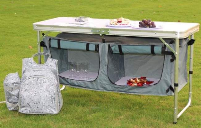 Camp Tables with Storage